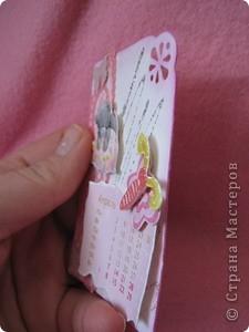 Эти карточки части календаря на 2012 год. Карточек 12, как и месяцев в году. Использована бумага ручной работы, дистресс чернила, бусины, стразы, винтажное кружево,вырубки, глиттер, брадсы. Очень трудоемкие и красивые (на мой взгляд).  поедет к bagira1965  фото 13