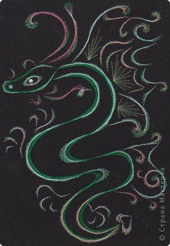 изонить дракон