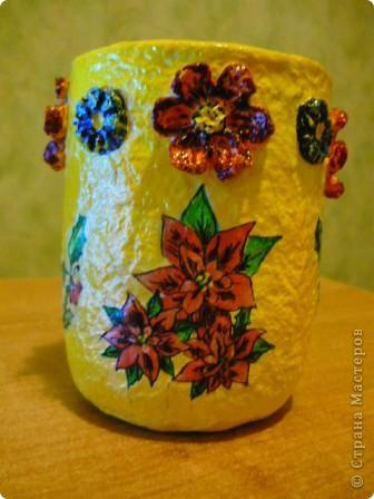 Наконец - то и я решила сделать себе африканскую бутылочку. Салфеточки такие я получила по обмену, за что девочкам большое спасибо. фото 10