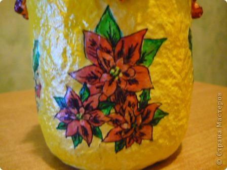 Наконец - то и я решила сделать себе африканскую бутылочку. Салфеточки такие я получила по обмену, за что девочкам большое спасибо. фото 13