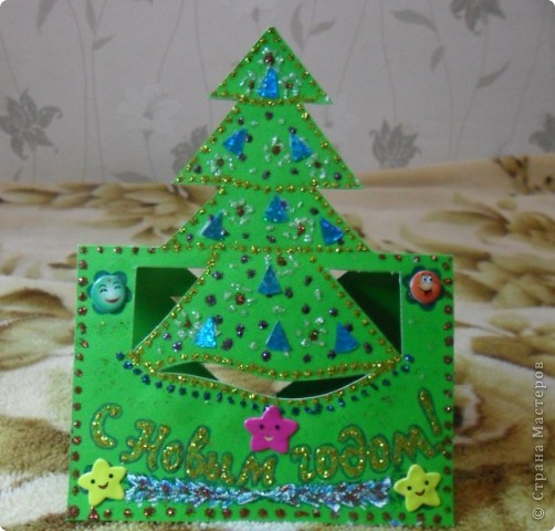 Мои варианты открыток и саней Деда Мороза по МК мастериц. фото 16