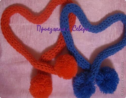 Вот такие шарфики навязались у меня в подарок к Новому году.  Пряжа из Троицка, Подмосковная, 50 % шерсть, 50 % акрил. Крючок 1,90  фото 1