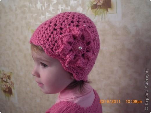 шапочка для доченьки фото 1