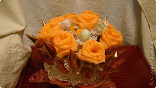 Все тренируюсь, пока кроме роз  ни за какие другие цветы не берусь. фото 2