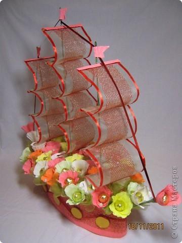 Первый мой цветочный корабль. фото 1