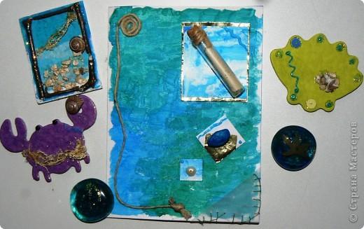 """Набо """"Море"""": магниты и открытка"""