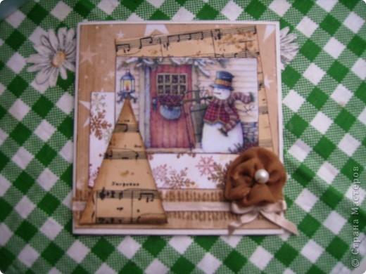 Мои следующие новогодние открытки. фото 5