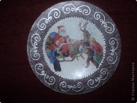 Моя первая новогодняя тарелка) фото 1