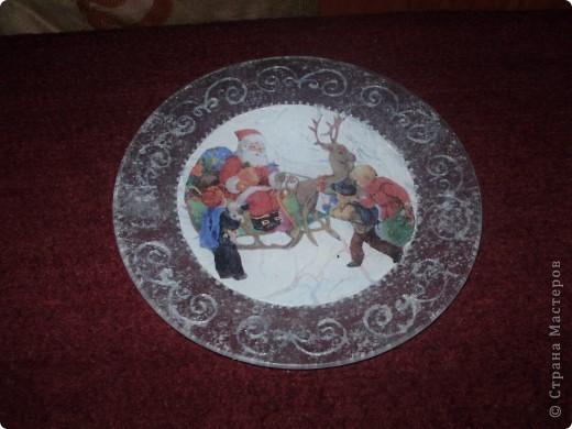 Моя первая новогодняя тарелка) фото 2