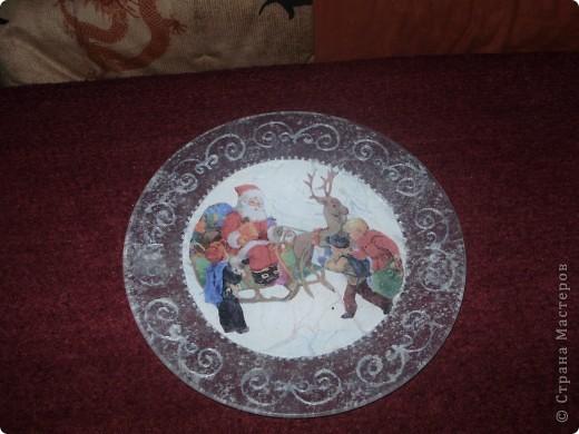 Моя первая новогодняя тарелка) фото 3