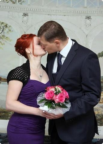 """Платье не белое, одна машина, в ЗАГС вдвоем... Вот такая свадьба была у нас ))) На свадьбе не обошлось без моих """"рукоделок"""". фото 6"""