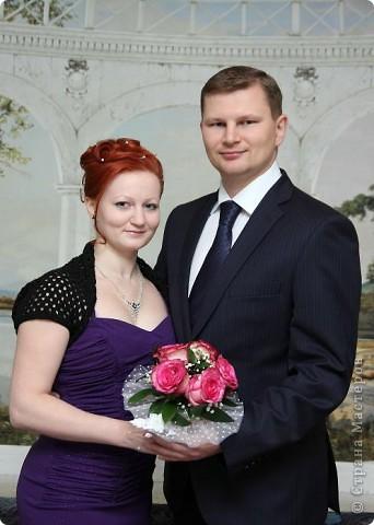 """Платье не белое, одна машина, в ЗАГС вдвоем... Вот такая свадьба была у нас ))) На свадьбе не обошлось без моих """"рукоделок"""". фото 7"""