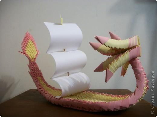 По МК stranamasterov.ru/node/15150  Лодка-дракон у меня получилось вот что... фото 3
