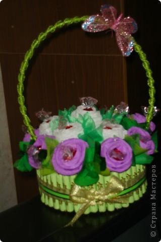 Сладенькая корзиночка в подарок крестной.  фото 1