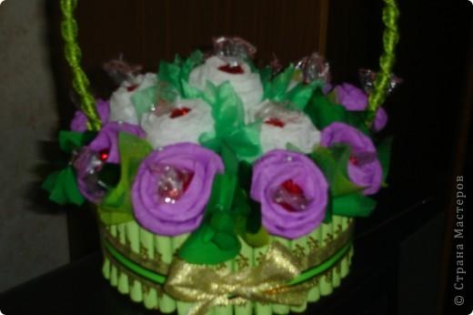 Сладенькая корзиночка в подарок крестной.  фото 2