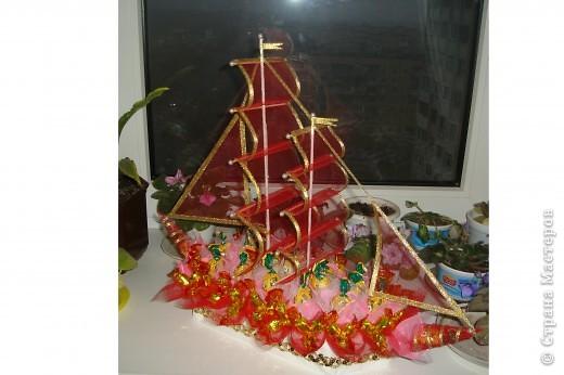 Конфетный кораблик