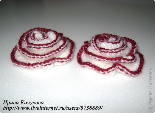 пряжа роза крючок