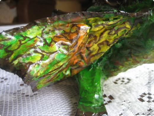 дракоша выполнен из папье-маше. его скелет - из проволоки (как его делать, нашла в СМ, но автора указать не могу-не нашла).  фото 8