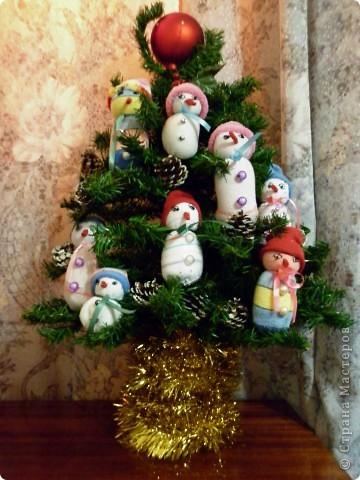 Семейство снеговичков.