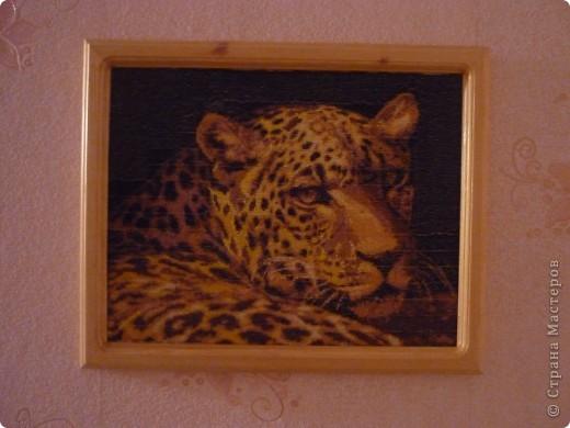 леопард.вышивка бисером. фото 1