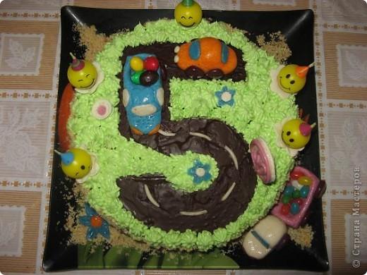 Этот тортик я испекла на день рождения своего сыночка фото 1