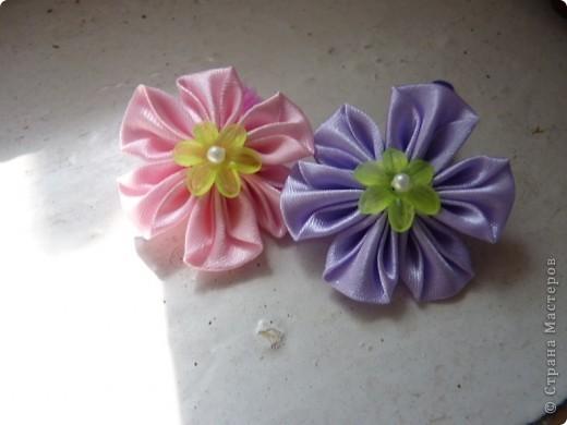 Цветочки канзаши 2))) фото 1