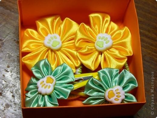 Цветочки канзаши 2))) фото 4