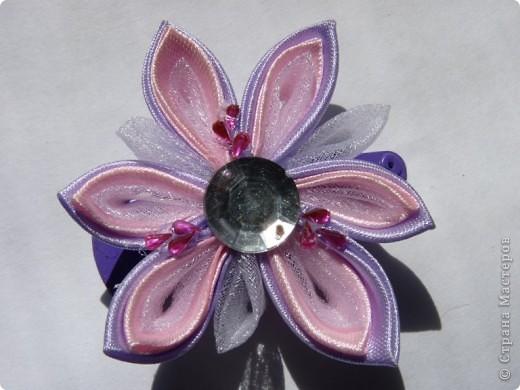 Цветочки канзаши 2))) фото 6
