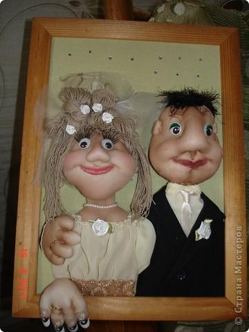 """Хотелось сделать что-то необычное к свадьбе своей племяннице. Вот такая """"поздравительная открытка"""" у меня получилась."""