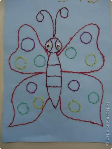 Вышиваем по бумаге.Бабочка. фото 2