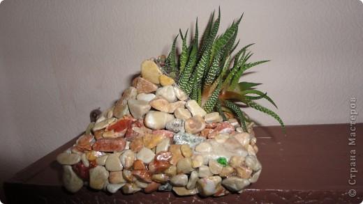Кашпо из камней фото 1