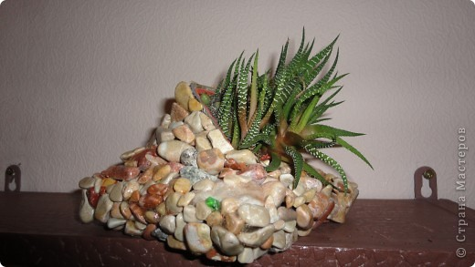 Кашпо из камней фото 3