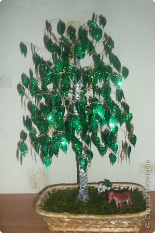 Бисероплетение дерево из пайеток мастер класс идеи #6
