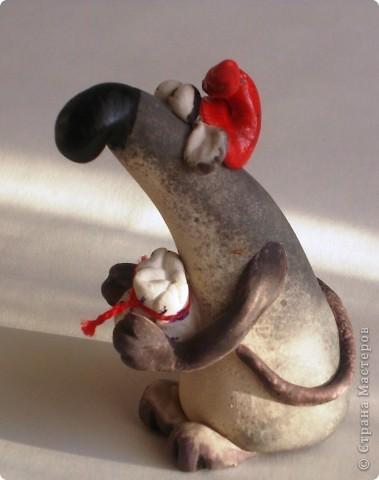 Хоть и маленький мой  Рэндик, но  нисколечко не  жадный))   В узелочке  несёт ВСЕМ  немного счастья  , добра и улыбки!  фото 3