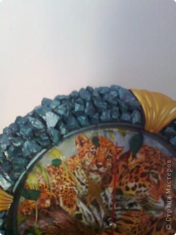 вот такие часики на кухню по краям камешки для аквариума. фото 3