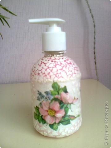"""Флакон для жидкого мыла """"Розовое настроение"""""""