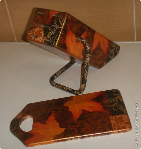 набор: подставка для ножей и доска фото 1