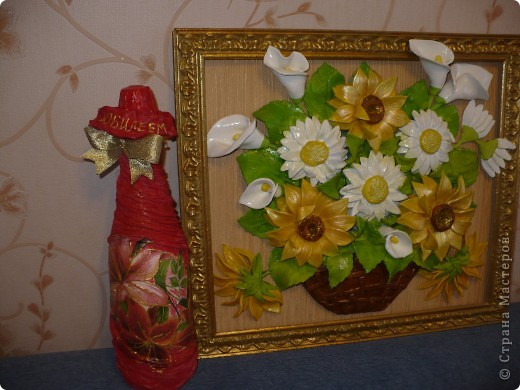 Цветы из соленого теста фото 4