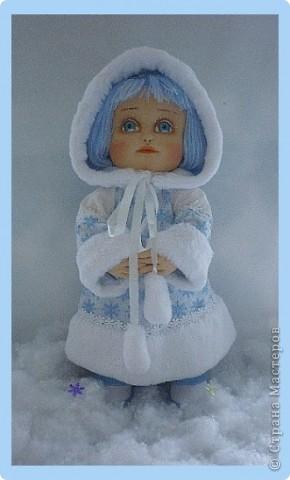 Снегурочка. Текстильная кукла.  фото 2