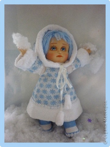 Снегурочка. Текстильная кукла.  фото 3
