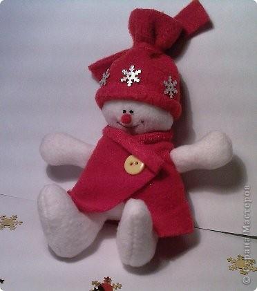 Вот такой снеговичок у меня получился!!!  фото 2