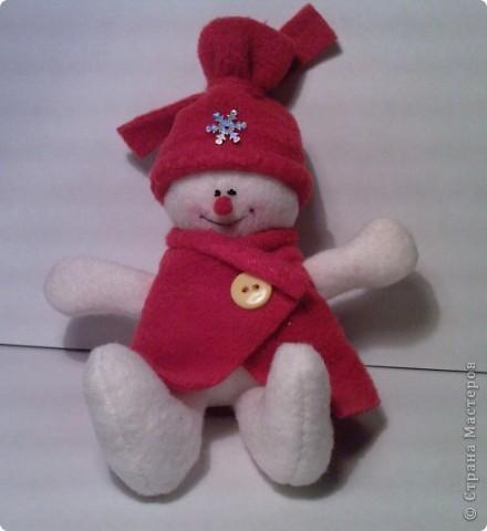 Вот такой снеговичок у меня получился!!!  фото 1