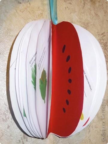 Сделали с дочкой первоклассницей для школы такую вот книжечку в виде арбуза с загадками про урожай . фото 1