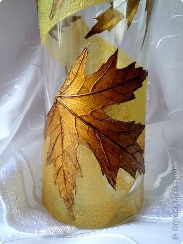 Моя любимая тема листья в золоте.  фото 9
