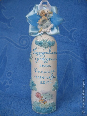 Подарочная бутылка на рождение ребенка фото 1