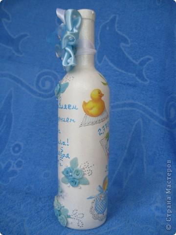 Подарочная бутылка на рождение ребенка фото 2