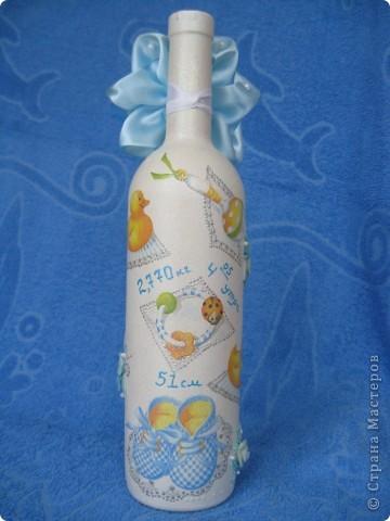 Подарочная бутылка на рождение ребенка фото 3