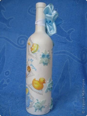 Подарочная бутылка на рождение ребенка фото 4