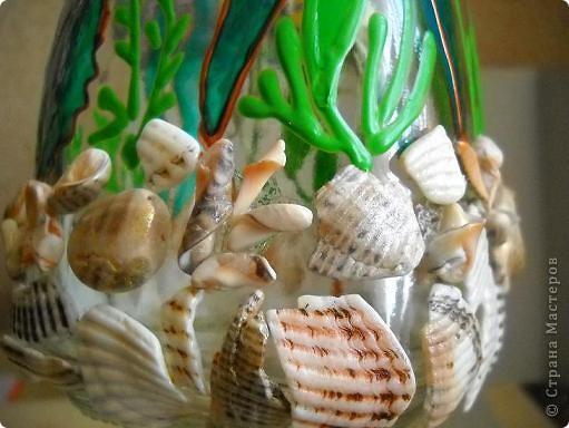 Вазочка с морской тематикой. фото 3
