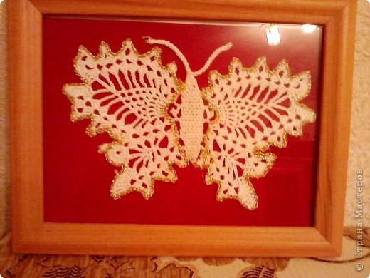 бабочка, вязаная крючком